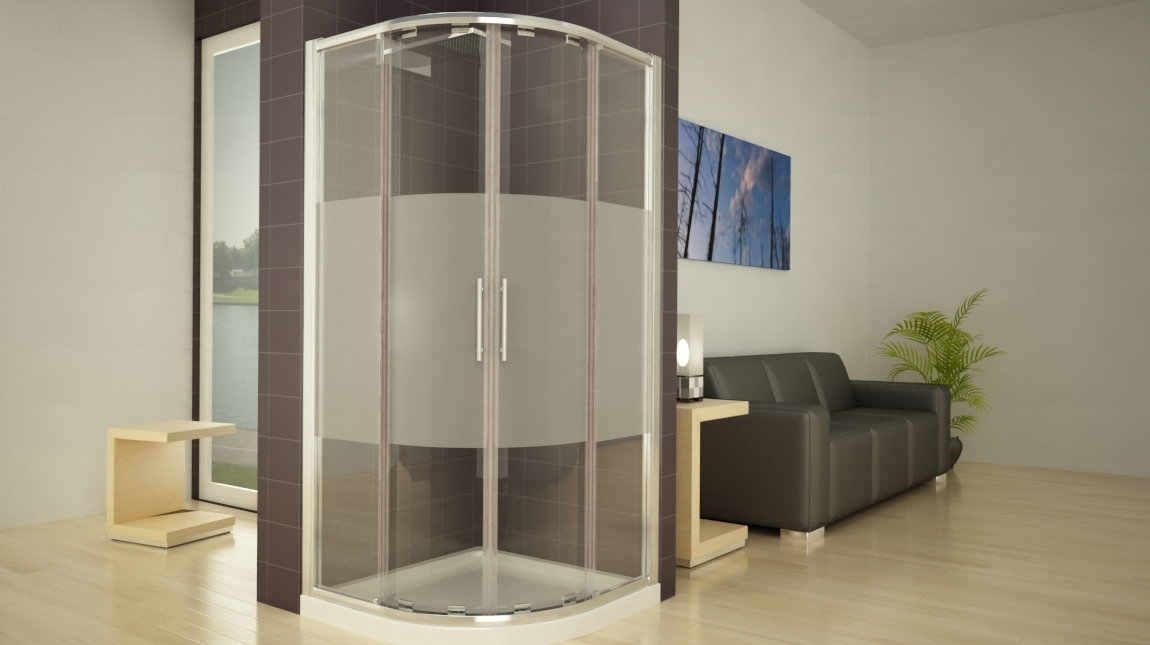 Mampara de ducha circular new glass mundilite - Perfiles mamparas ducha ...