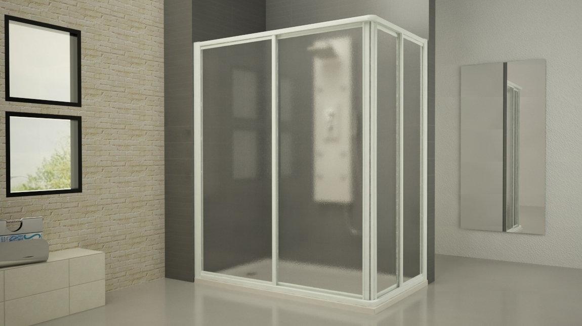 Mampara de ducha cuadrada plus mundilite for Perfil mampara ducha
