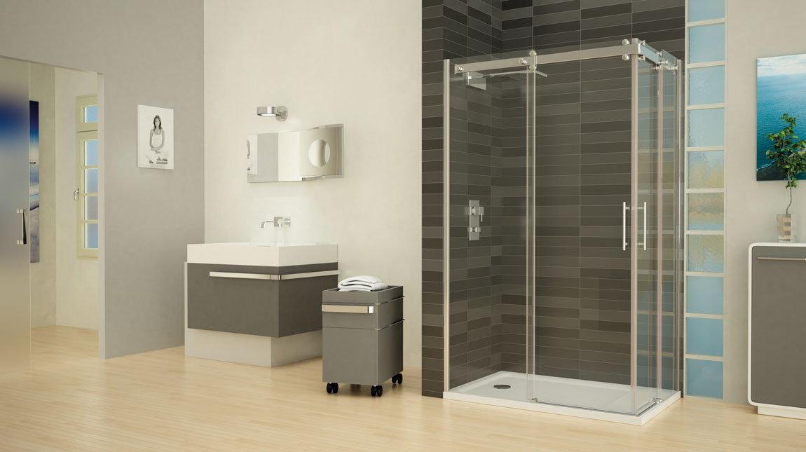 Mampara de ducha cuadrada smart mundilite - Perfil mampara ducha ...
