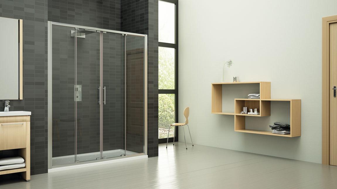 Mampara de ducha oporto new glass mundilite - Perfiles mamparas ducha ...