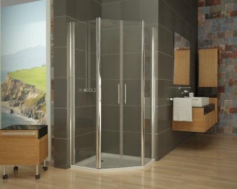 mampara de ducha pentagonal 2 mundilite. Black Bedroom Furniture Sets. Home Design Ideas