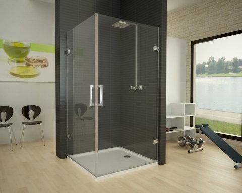 Mamparas de ducha angulares mundilite for Bisagras para mamparas