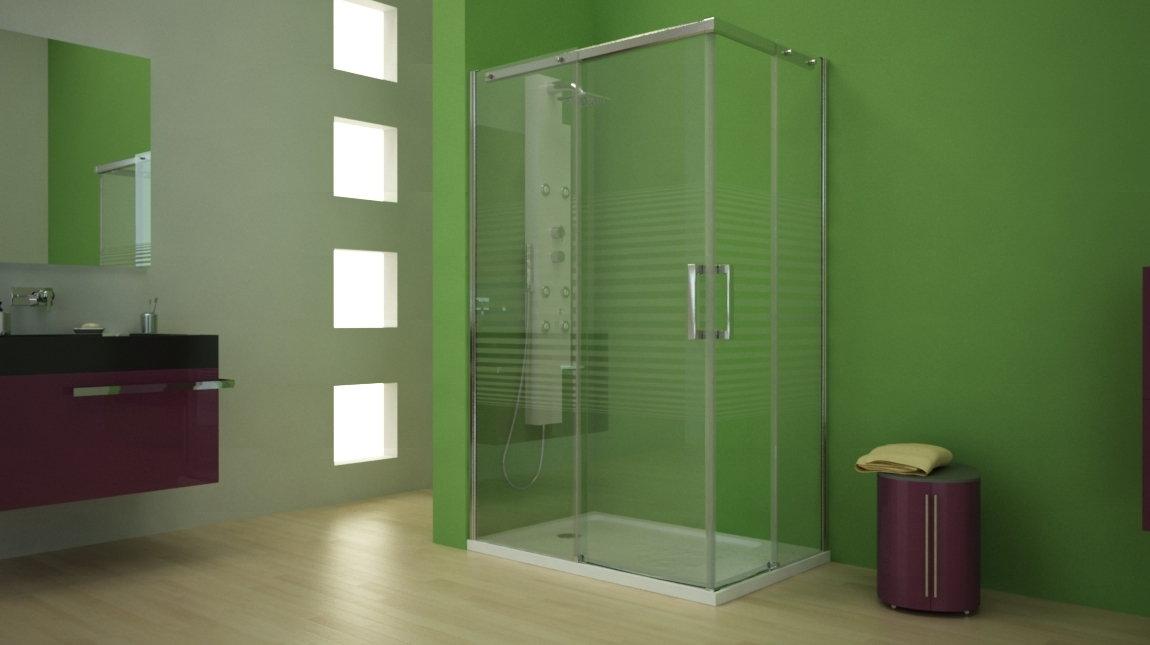 Mampara de ducha cu mundilite - Perfil mampara ducha ...