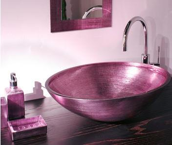tempered glass modern basin