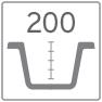 Profondità della vasca lavelli 200