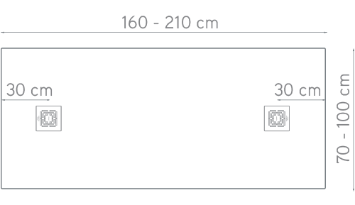 dibujo técnico medidas plato de ducha bizona