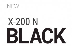 letrero nueva X-200 N Black - perfiles negros